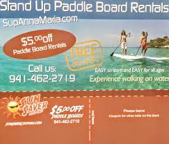 anna maria island paddle board rentals coupon anna maria island