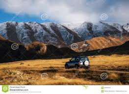 Georgia how to travel for free images Off road travel on car on mountain road in caucasus georgia jpg
