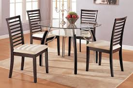 round dining table for 8 gloss acrylic gray padded side chairs