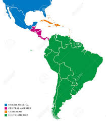 Maps Of South America Latin America Subregions Map The Subregions Caribbean North