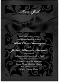 and black wedding invitations suite glitter package black tie wedding black glitter