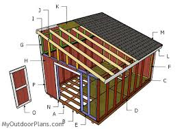 Free Plans To Build A Wood Shed by 12x16 Lean To Shed Plans Myoutdoorplans Free Woodworking Plans