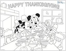 thanksgiving disney coloring pages coloring