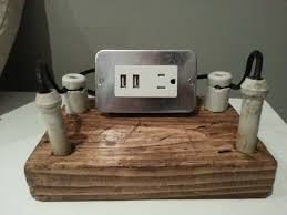 Charging Station Nightstand by Vintage Usb Charging Station 1930 Knob And Tube Wire By Bosslamps