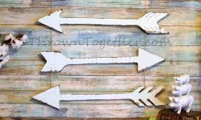 wood arrow wall decor white handmade arrows rustic arrow decor