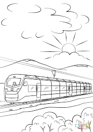 intercity high speed train coloring page free printable coloring