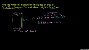 polynomial multiplication word problem video khan academy