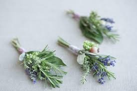 how to make boutonnieres how to make herb boutonnieres once wed