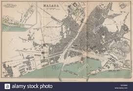 Map Of Malaga Spain by Malaga Caleta Limonar Vintage Town City Map Plan Spain 1899
