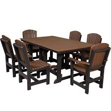 plastic rectangular outdoor table wildridge heritage 44 x72 table with 6 dining chairs free