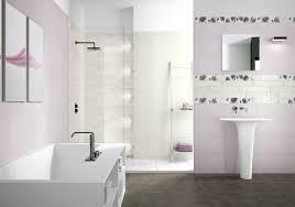 bathroom decor cream brown colors mosaic pattern wall white