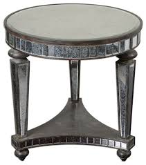 Contemporary Accent Table Mirror Side Table Interiors Design