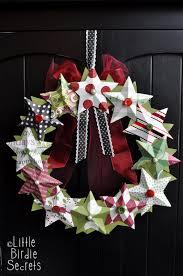 20 festive diy christmas wreath ideas paper stars 3d paper and