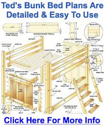 free bunk bed building plans best bunk beds design plans home