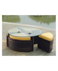coffe table square rattan coffee table wicker umbrella side