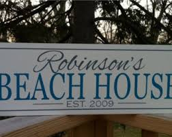 Personalized Home Decor Signs Beach Signs Beach Plaques Beach Decor Cottage Signs Cottage