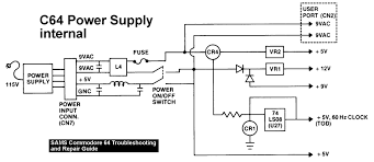 commodore service manual power supply schematic wiring diagram