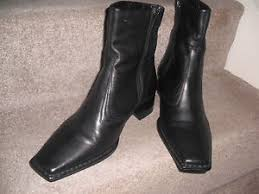 womens black ankle boots size 9 bnwb womens black leather ankle boots size 9 42 ebay