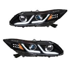 honda civic headlight 2012 2013 honda civic chrome housing projector headlights