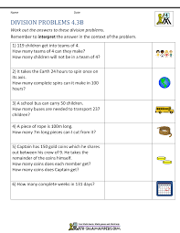 division word problems grade 4 greater than less than worksheets