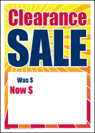 sale tags clearance sale signs4retail