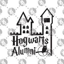 hogwarts alumni decal hogwarts alumni decal white rabbit vinyl