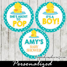 rubber duck baby shower decorations rubber duck cupcake toppers personalized tags cupcakemakeover