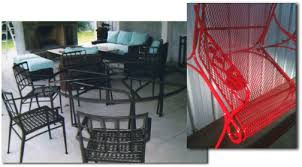 inspirations powder coated aluminum patio furniture with image 4 of