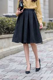 pleated skirts fashion structured pleated skirt oasap