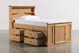 Single Bed With Storage And Trundle Summit Caramel Twin Bookcase Bed W Single 4 Drawer Storage