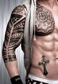 tribal meaning half sleeve and chest designs for