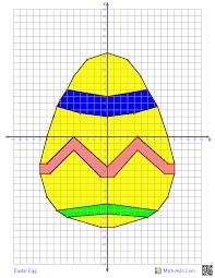 easter egg four quadrant graphing worksheet math aids com
