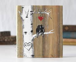 5th anniversary gift 5th anniversary gift for lovebirds and aspen tree