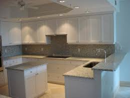 Gray Backsplash Kitchen Granite Countertop Gray Shaker Kitchen Cabinets Commercial Range