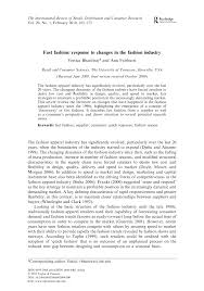 fast fashion response changes in fashion industry pdf