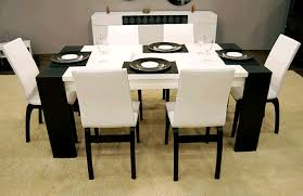 alluring white and black modern dining room sets coco dining room