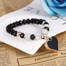 vintage heart bracelet images Vintage heart bracelets with crystal shambhala beads canada hut jpg