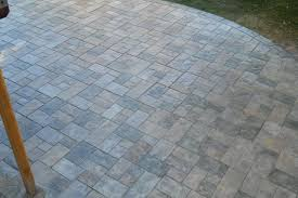 Stamped Concrete Patio Diy Stamped Concrete Patio With Landscaping Wall Retaining Wall