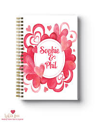 Best Wedding Planner Books Water Colour Hearts Design Wedding Planner Book Wedding