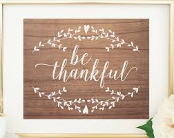 be thankful print thanksgiving wall fall wall decor