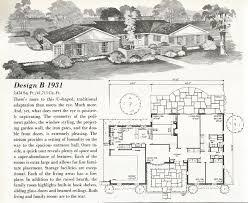 U Shaped House by Vintage House Plans Mid Century Homes U Shaped Houses Mid