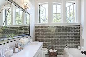 Contemporary Tile Bathroom Gray Subway Tile Bathroom Bathroom Contemporary With Bathtub