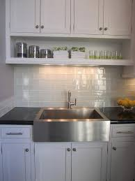 White Glass Tile Backsplash Design Ideas - White glass tile backsplash
