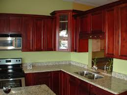 Red Kitchen Backsplash Ideas Excellent Dark Wood Oak Kitchen Cabinets For Red Oak Kitchen
