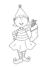 elves coloring pages printable coloring page