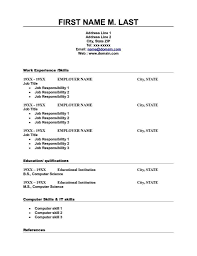 free basic resume outline free printable resume exles exles of resumes
