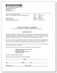 Desk Audit Massachusetts Department Of Revenue Notice Of Intent To Assess