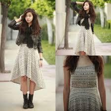 amelia jin h u0026m leather jacket high low dress jcpenney lace up