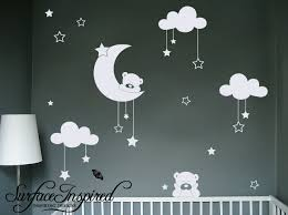 Vinyl Wall Decals For Nursery Wall Decal Amazing Look With Moon And Wall Decals Moon And