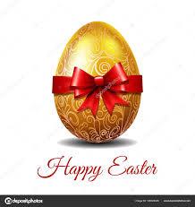 gold easter egg gold easter egg of ribbon stock vector tassel 189022446